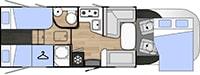 Rozloženie karavanu Benimar Mileo 263