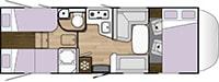 Rozloženie karavanu Benimar Sport 363